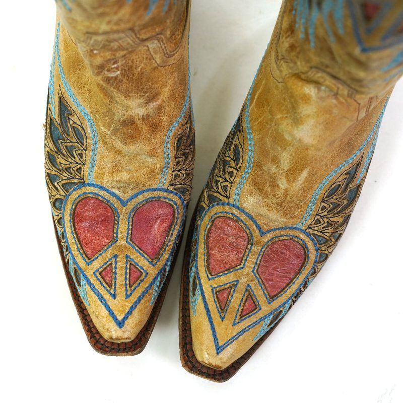 Corral Peace Sign Cowboy Boots Women's Size 11
