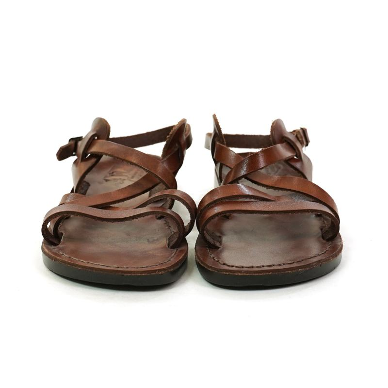 Jerusalem Brown Leather Fisherman Sandals Size 7
