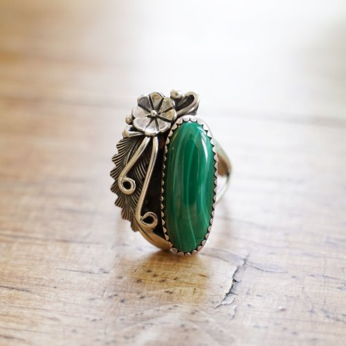 Peterson Johnson Sterling and Malachite Ring