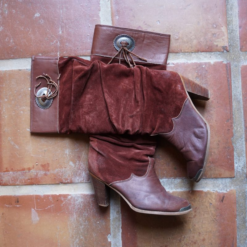 Slouchy Zodiac Leather Boots 70s Size 10