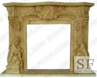 Angel Cherubim Marble Fireplace Mantel, Statue Marble ...