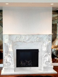 Marble Mantels - Custom Fireplace Ideas - Cast Stone Surrounds