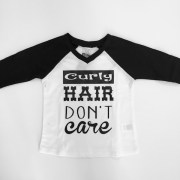 curly hair don't care baseball