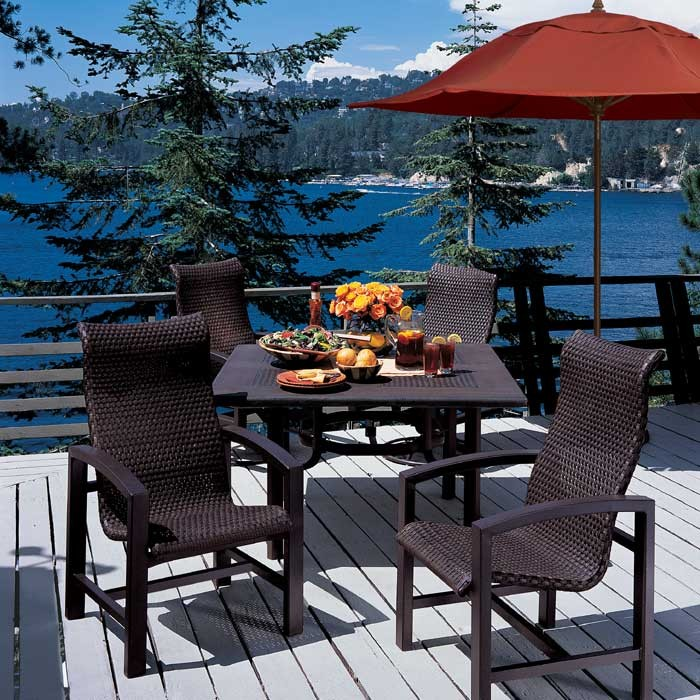 Lakeside Tropikane Dining Collection - Aluminum