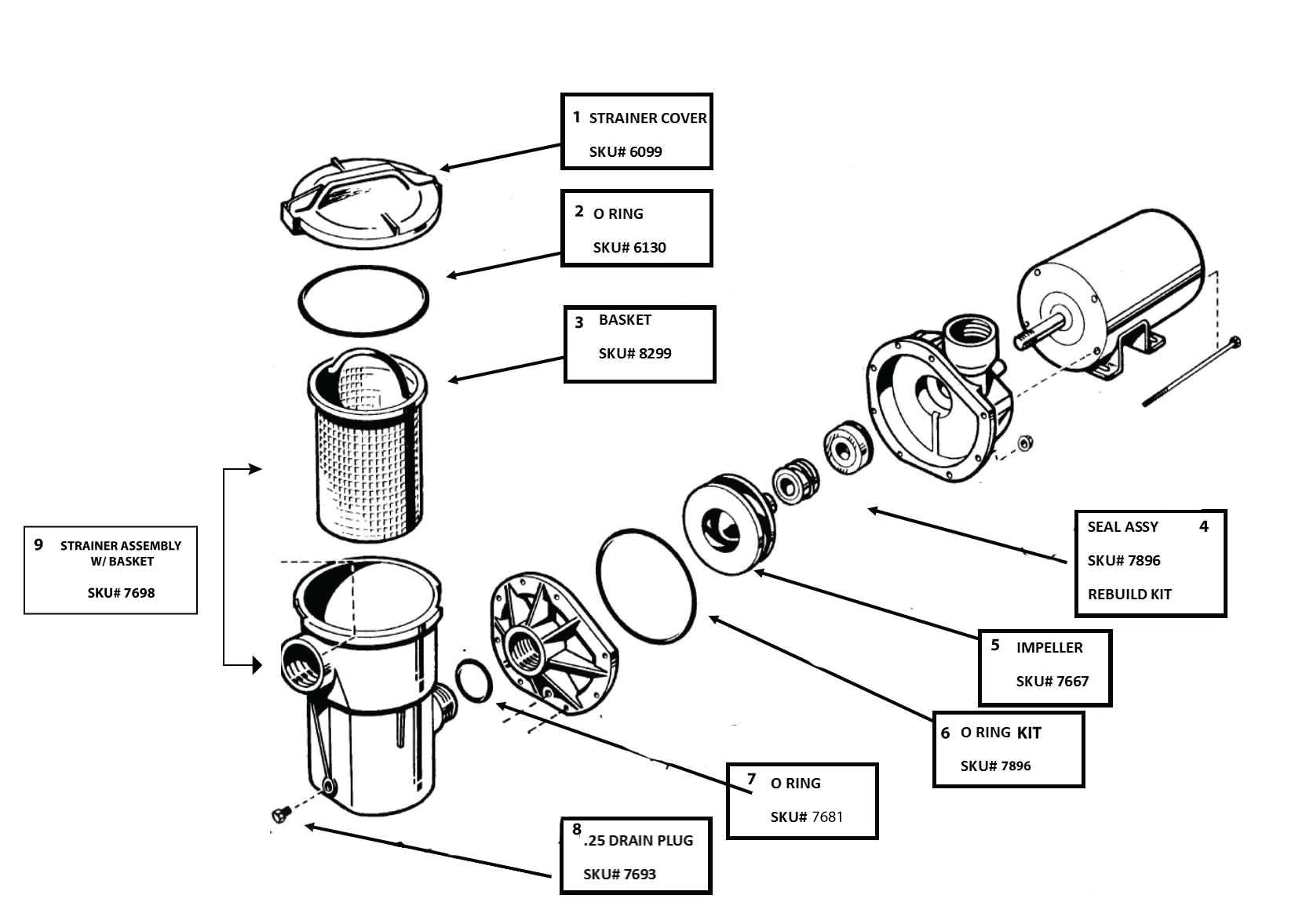 2.0 HP/2 Speed Swimpro Vertical Discharge Matrix Pump with