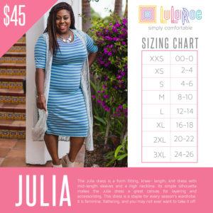 Julia Sizing Chart