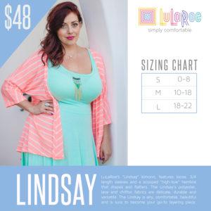 Lindsay Sizing Chart