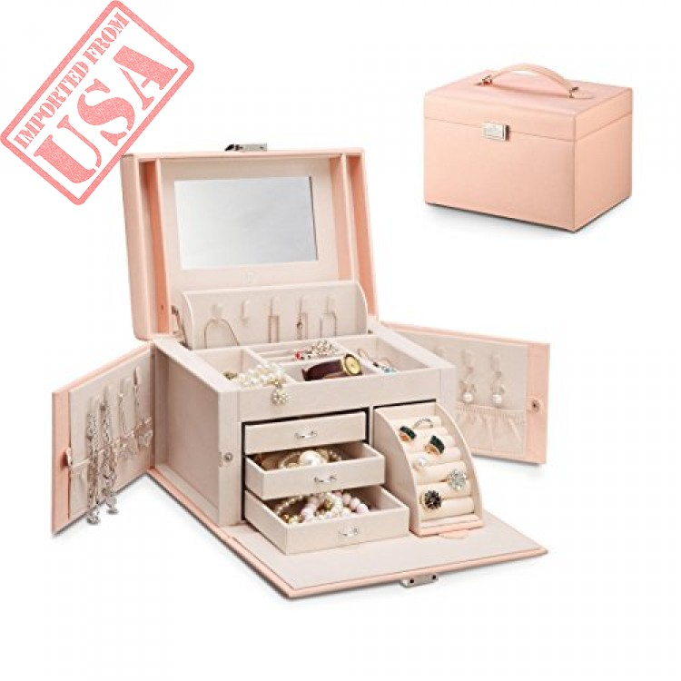vlando jewelry box faux leather medium