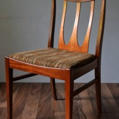 Set Of Dining Chairs Brown G Plan Brasilia | Vintro