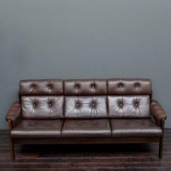 Vintage Leather Sofa Company Flexsteel Motorhome Sleeper Mid Century Scandinavian Ekornes Brown Vintro
