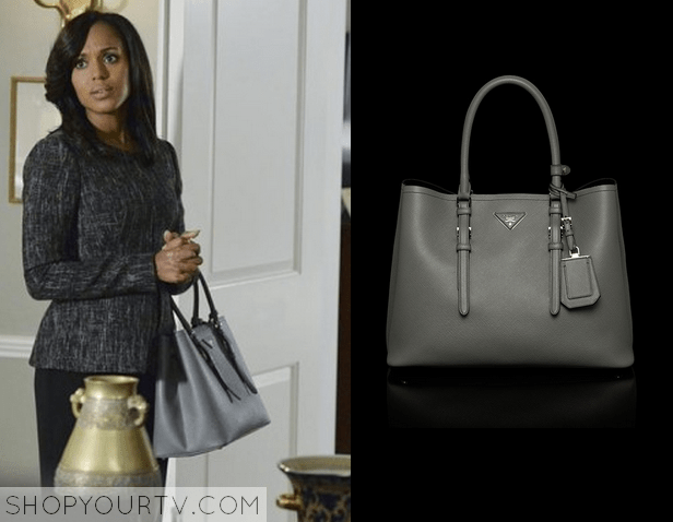 d4215fd127de SCANDAL: SEASON 4 EPISODE 2 OLIVIA'S GREY LEATHER BAG