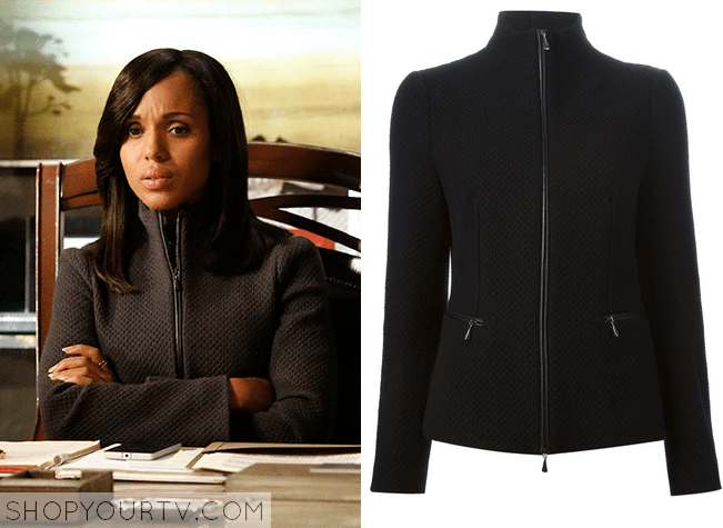 olivia black zip up jacket