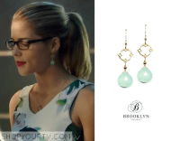 Arrow: Season 3 Episode 6 Felicitys Blue Drop Earrings ...