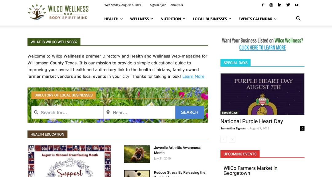 Wilco Wellness Home Page