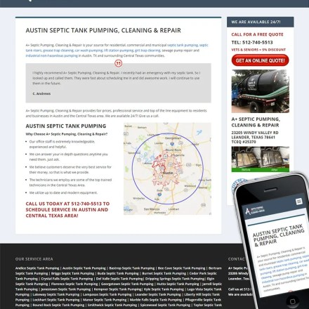 A + Septic Pumping & Repair