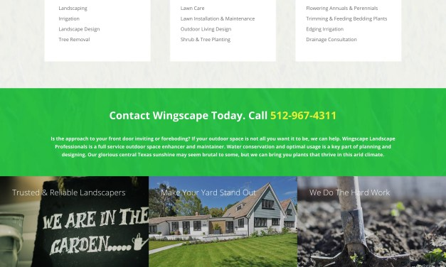 New Website for Wingscape Landscape Professionals