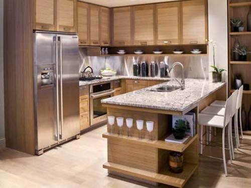 ilot de cuisine avec table amovible