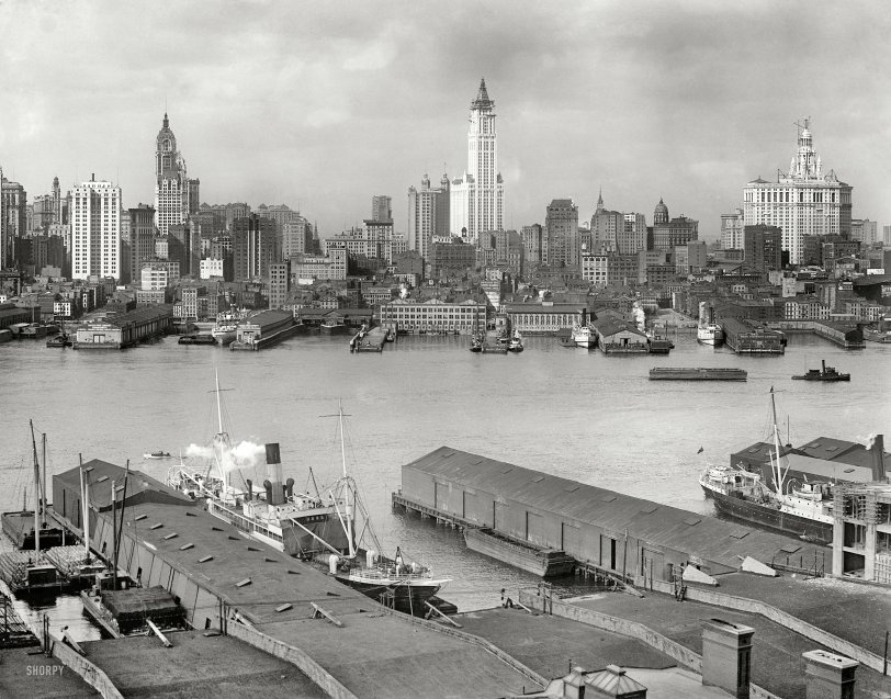 Baltimore Skyline Car Wallpaper Three Skyscrapers 1912 Shorpy Vintage Photography