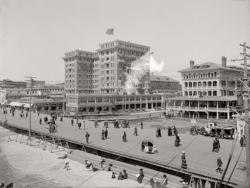 Atlantic City Boardwalk 1908 Shorpy Historical Photos