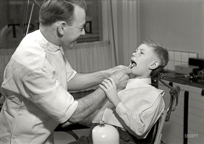 Appointment With Dentistry 1950  Shorpy Old Photos