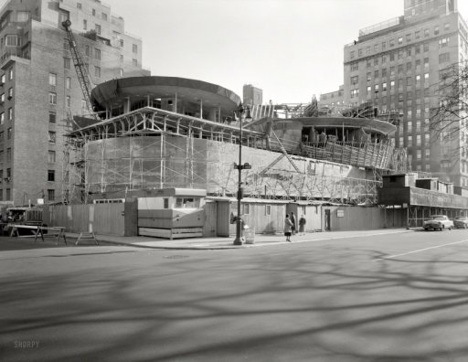 Guggenheim Going Up: 1957