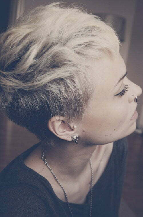 Short Side Shaved Hair Short Hairstyles 2016 2017 Most