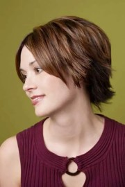 short straight layered hairstyles