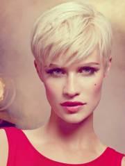 blonde short haircut