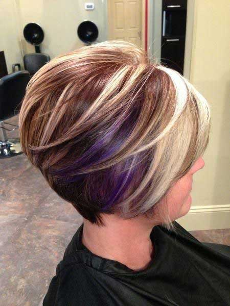 Short Purple Ombre Hair Short Hairstyles 2017 2018