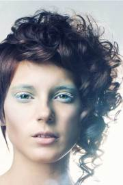 curly asymmetrical pixie hairstyles