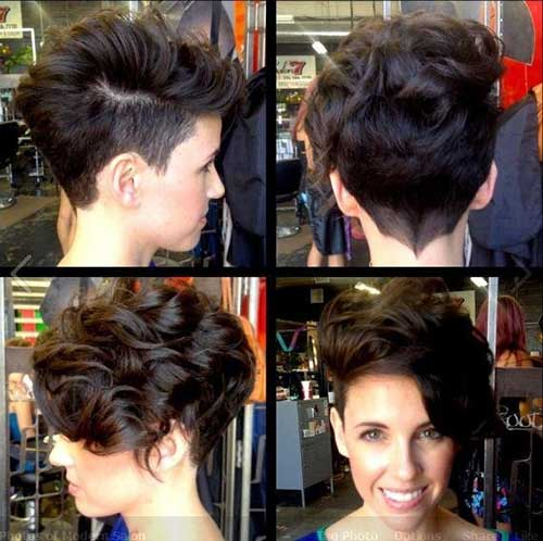 20 Curly Asymmetrical Pixie Hairstyles Short Hairstyles 2016