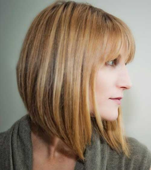 Angled Bobs With Bangs Short Hairstyles 2016 2017 Most