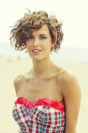 short haircuts girls with curly