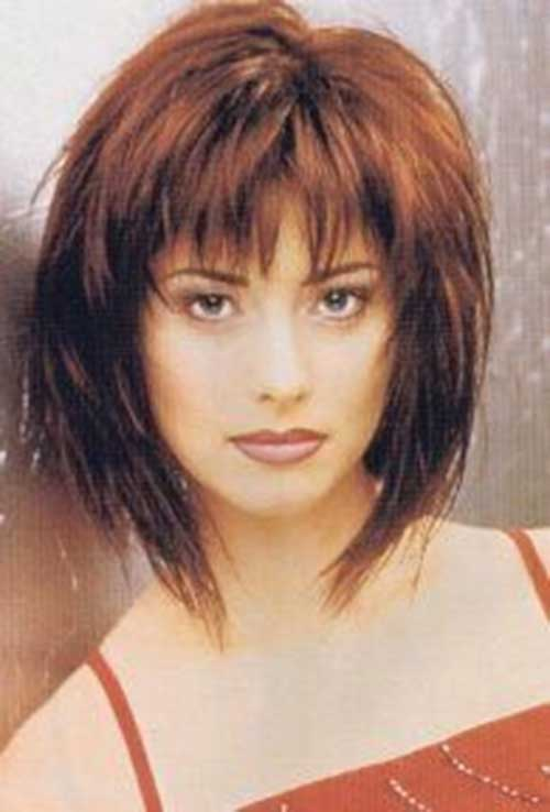 Shaggy Hairstyle with Blunt Bangs