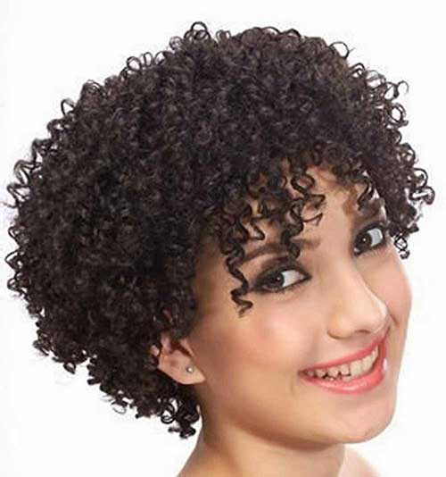 Short Haircuts For Girls With Curly Hair Short
