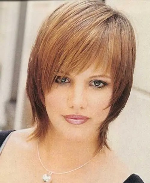 Short Straight Shaggy Hair for Summer Haircut