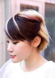 two tone hair color short