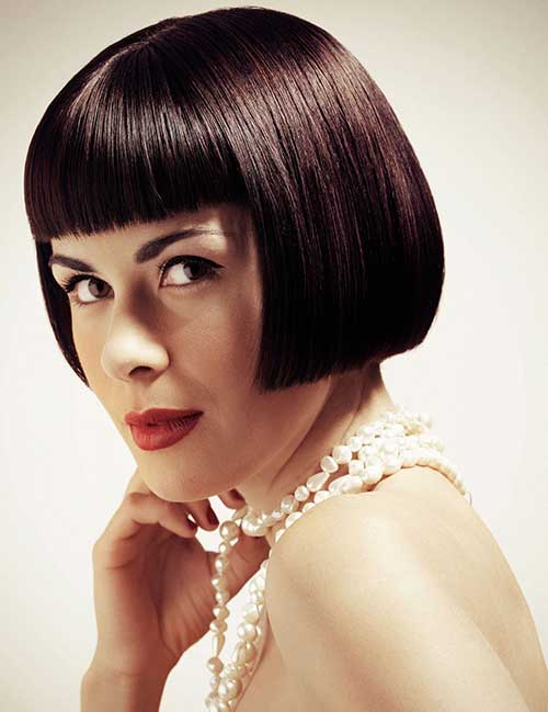 Short Straight Hairstyles With Bangs Short Straight Haircuts