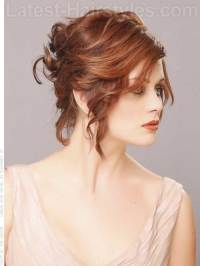 14 Short Hair Updo for Wedding