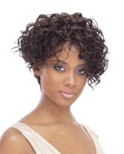 beautiful short curly weave