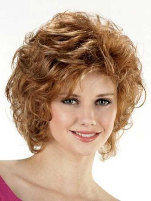 Cute Curly Short Hairstyles For Round Faces