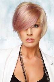 short blonde and pink hairstyles