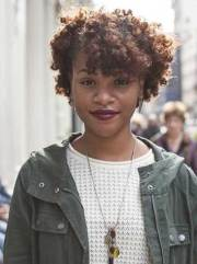 short curly afro hairstyle