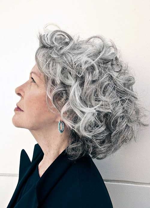 15 Hairstyles For Short Grey Hair