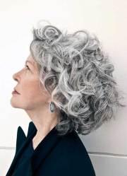 hairstyles short grey hair
