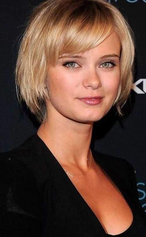 15 Short Straight Hairstyles For Round Faces Short Hairstyles