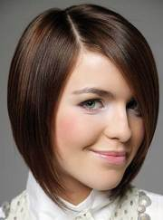 brown bob hairstyles short