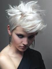 short bleached blonde hair