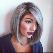 short hairstyles gray hair