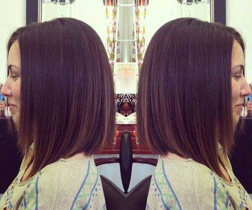 Dark Short Shoulder Length Haircuts